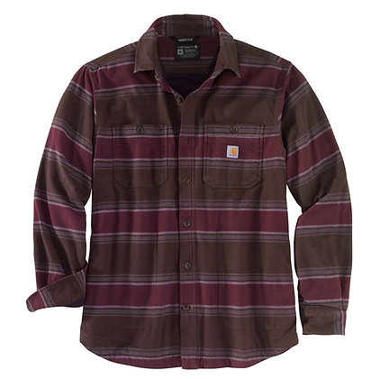 Carhartt Workwear 104913 Hamilton Fleece Linde Shirt Flannelhemd in dark brown