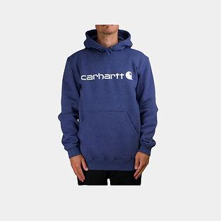Carhartt Workwear Signature Logo Hoodie in dusk blue