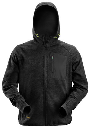 Snickers Workwear 8941 FlexiWork Fleece Hoodie in schwarz