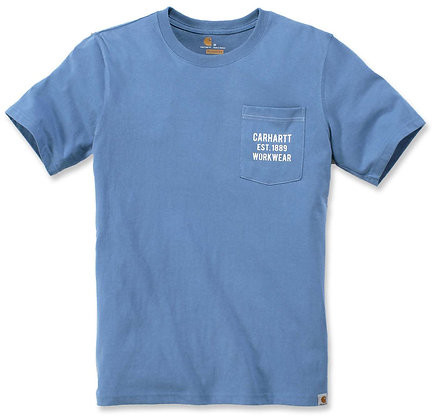 Carhartt Workwear 104363 Graphic Pocket T-Shirt in french blue blau