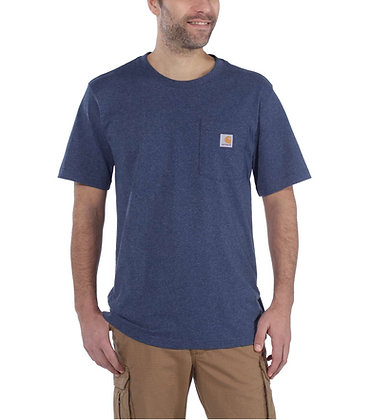 Carhartt Workwear 103296 K87 Workwear Pocket T-Shirt in dark cobalt blue heather blau