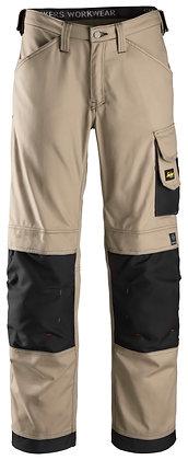 Snickers Workwear 3314 Handwerkerhose Canvas+ in khaki beige