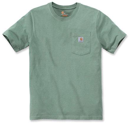 Carhartt Workwear 103296 K87 Pocket T-Shirt in botanic green grün