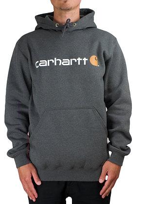 Carhartt Workwear 100074 Signature Logo Hoodie carbon grau