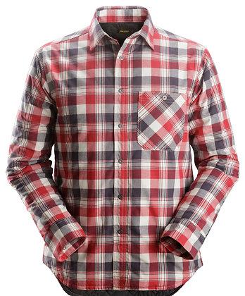 Snickers Workwear 8501 gefüttertes Flanell Langarm-Karoarbeitshemd in rot