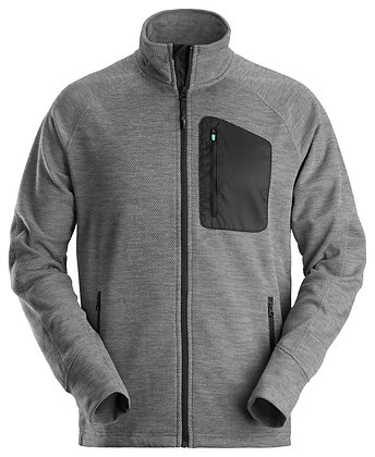 Snickers Workwear 8042 FlexiWork Fleece Arbeitsjacke in grau