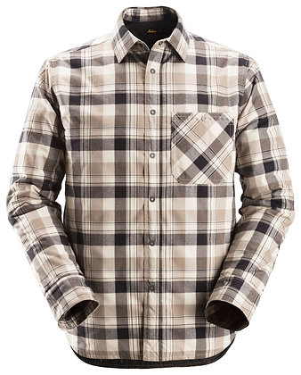 Snickers Workwear 8501 RuffWork gefüttertes Flanellhemd kariertes Thermohemd in braun