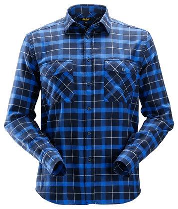 Snickers Workwear 8516 AllroundWork leichtes Baumwoll Flanellhemd in navy blau