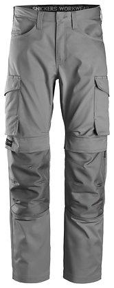 Snickers Workwear 6801 Service Arbeitshose mit Kniepolstertaschen in grau