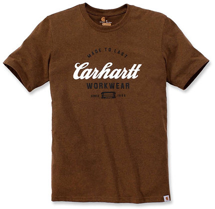 Carhartt Workwear 104181 Made to Last T-Shirt in boo oiled walnut heather braun