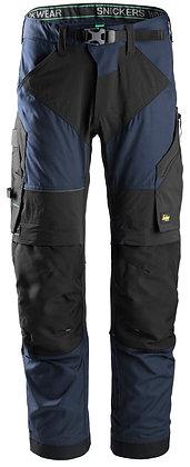 Snickers Workwear 6903 FlexiWork Arbeitshose+ in der Farbe navy und schwarz