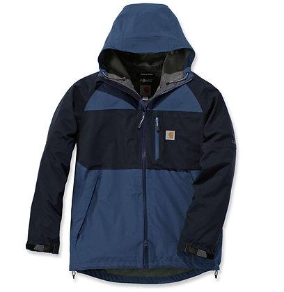 Carhartt Workwear 104245 Force® Hooded Jacket wasserdichte Arbeitsjacke in blau