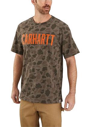 Carhartt Workwear 104246 Camo Block Logo T-Shirt in grün