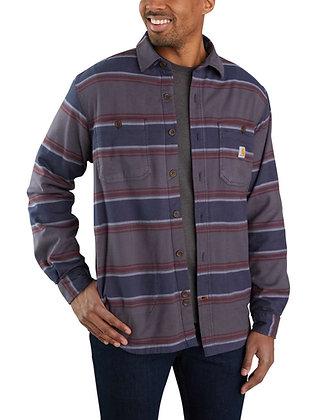 Carhartt 104913 Hamilton Fleece Lined Shirt Flannelhemd in shadow stripe