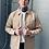 De Palma Workwear Ridge Padded Jacket in tan beige.