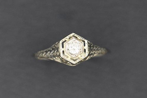Antique Filigree with Diamond