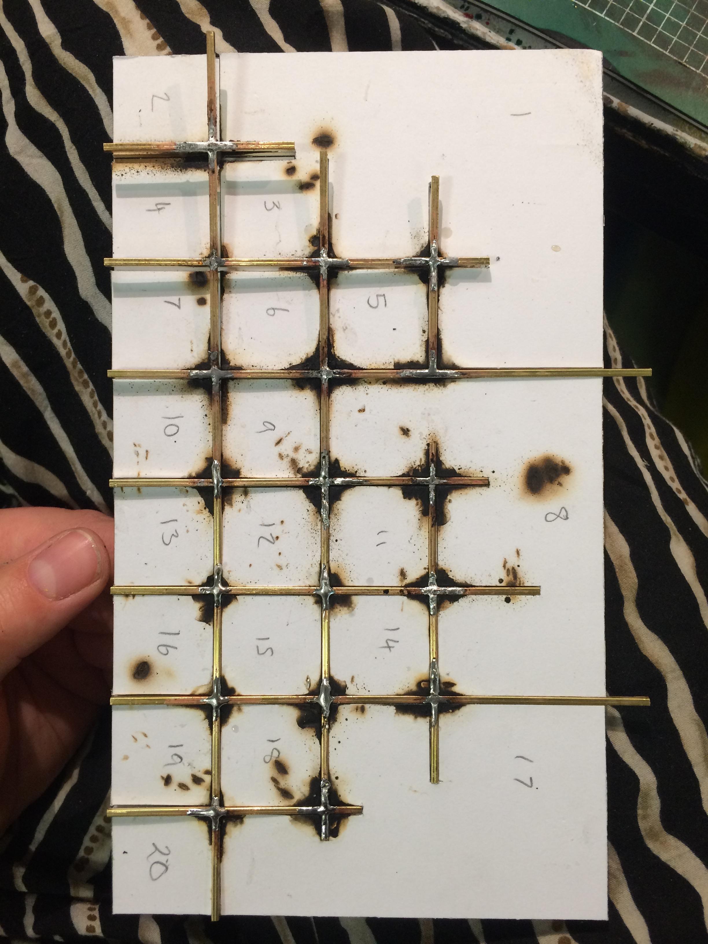 soldering model wall piece