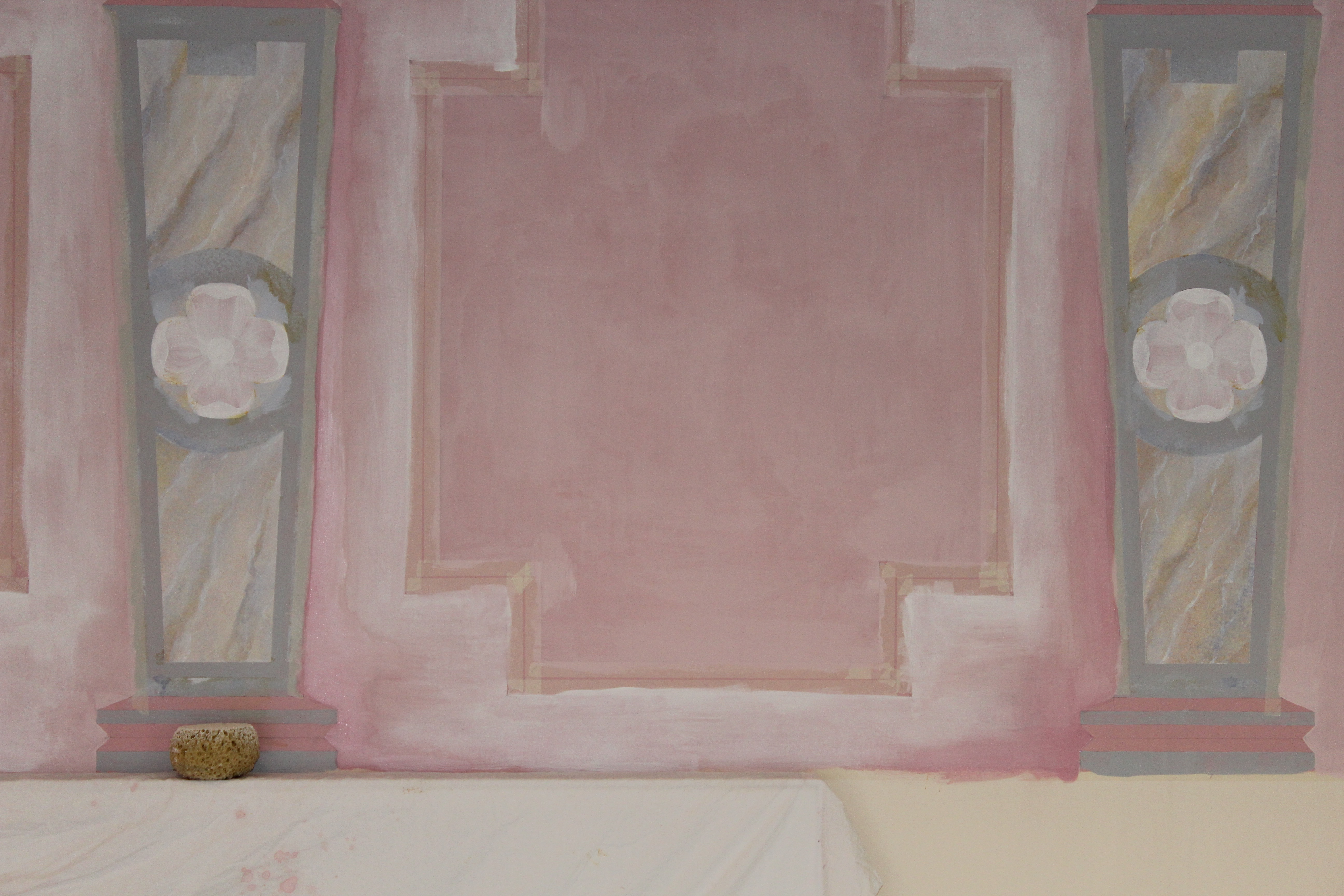 Pink wall detail