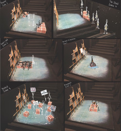 storyboarding from white card model