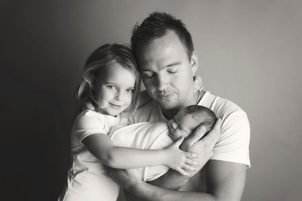 Newbornfotografie met gezin