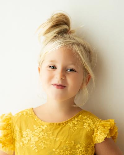 Fris en spontaan kinderportret