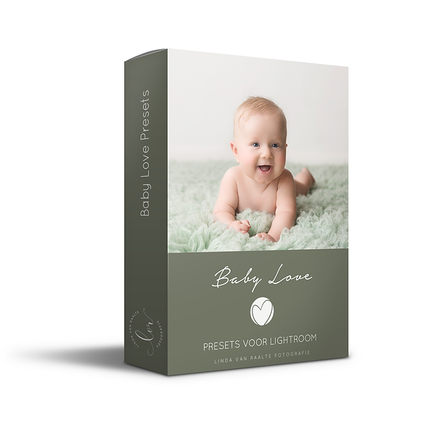Baby love presets box mock up darkgreen.