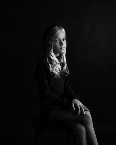 Kinderportret kleur zittend
