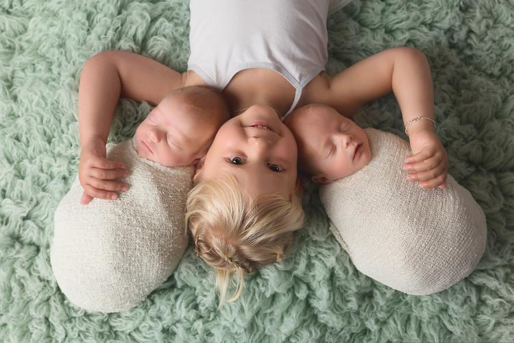 Tweeling Newbornsessie Tweelingsessie Tweelingfotoshoot