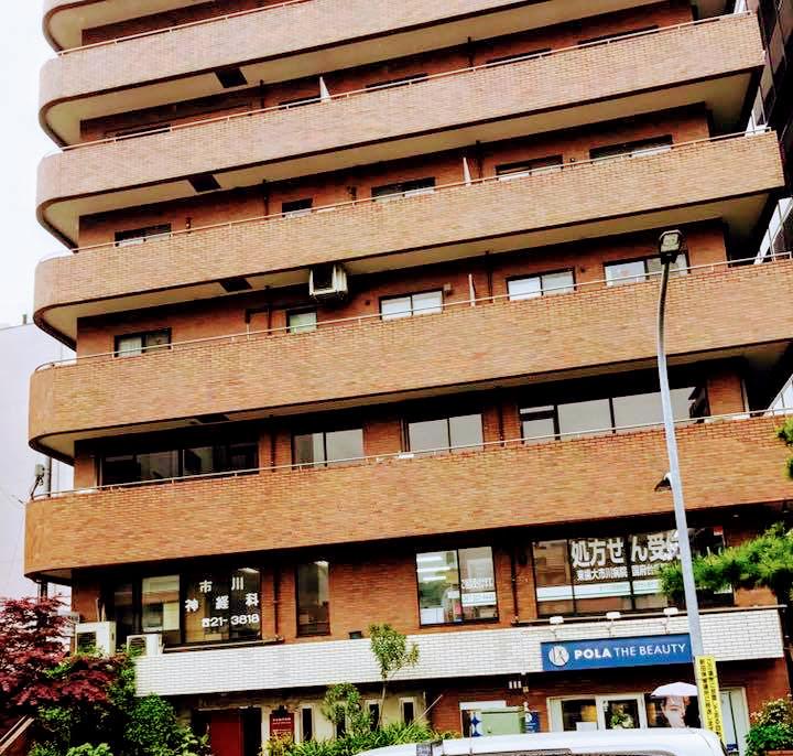 この建物の2階にオープンします(JR市川駅徒歩3分です)