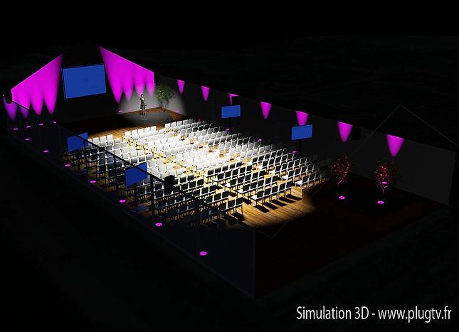 Installation vidéo fixe, installation sonorisation fixe