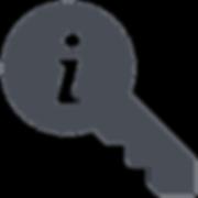 une clé avec une bulle d'information