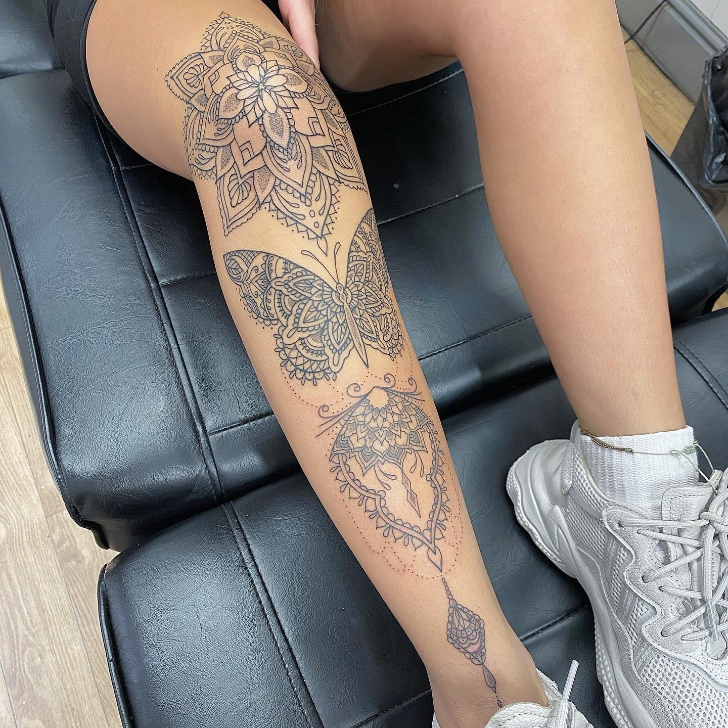 leg sleeve in progress