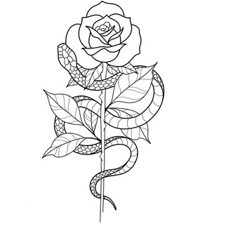rose and snake