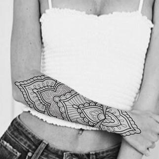mandala style arm