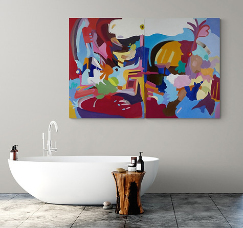 SOLD Cantata   Diptych