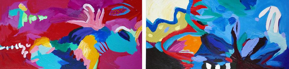 Matisse Echoes  Diptych