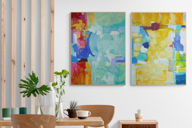 SOLD Lit | Diptych
