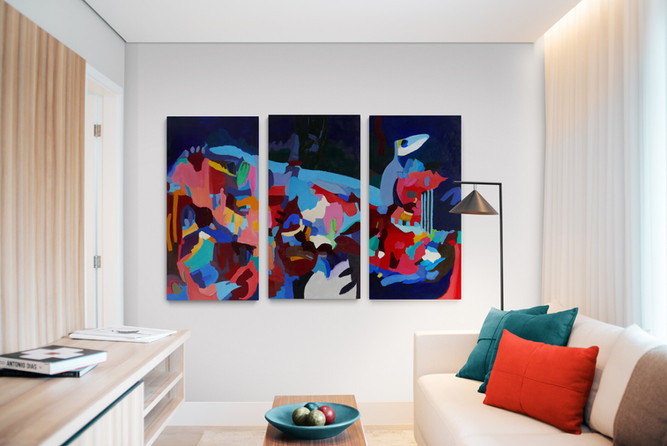 Space Travelers | Triptych