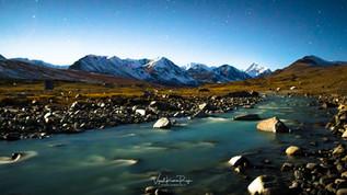 Moonlit Altai Mountains