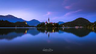 Blue Hour,Lake Bled
