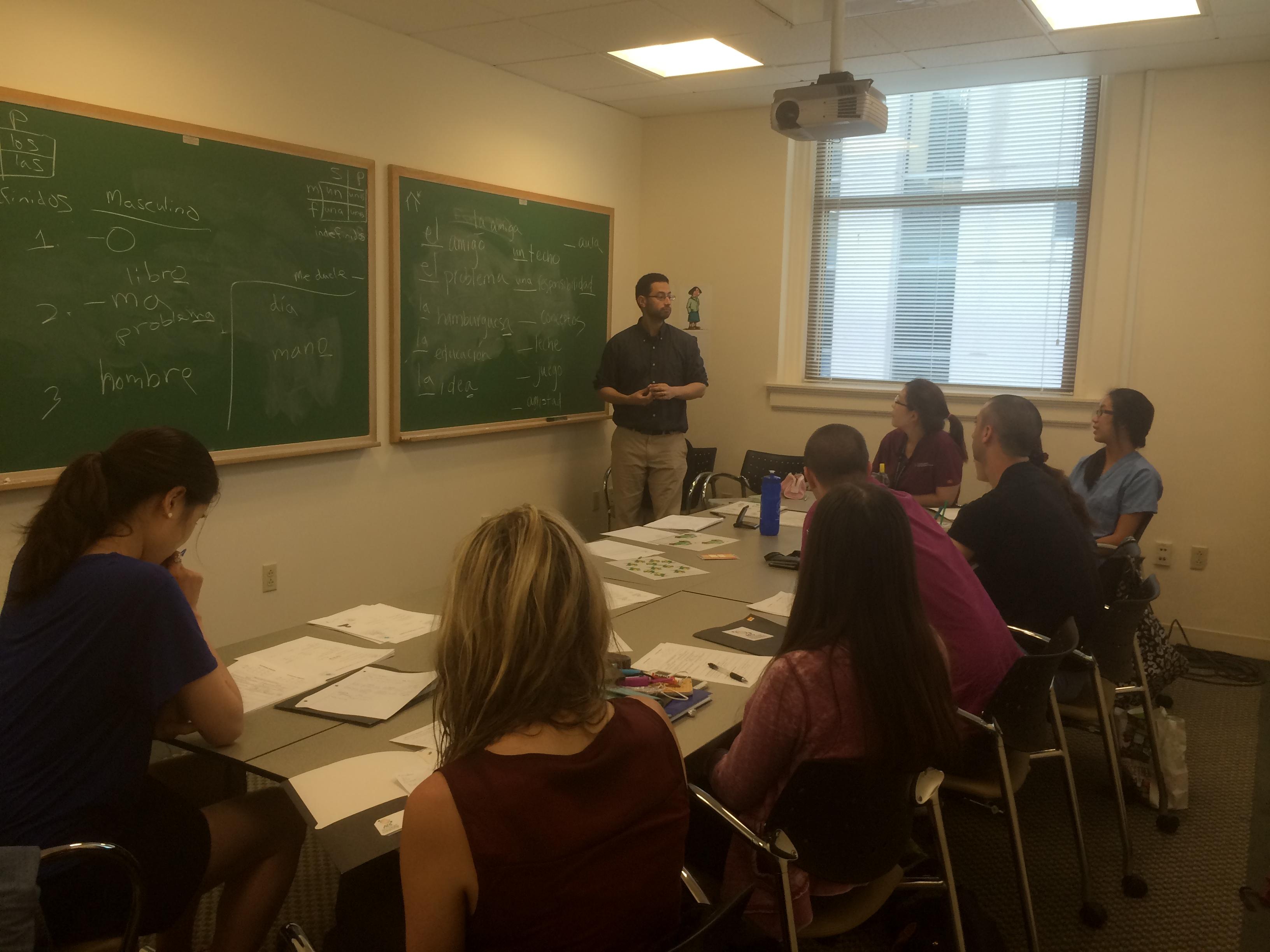 Boston medical Spanish classes