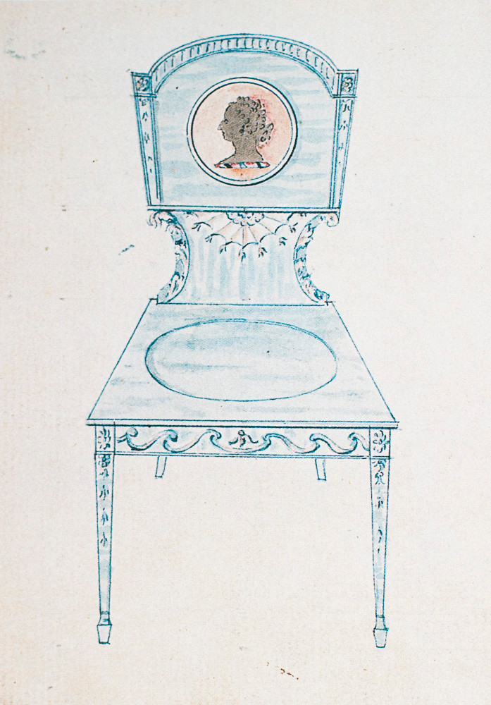 Gillows design for a hall chair