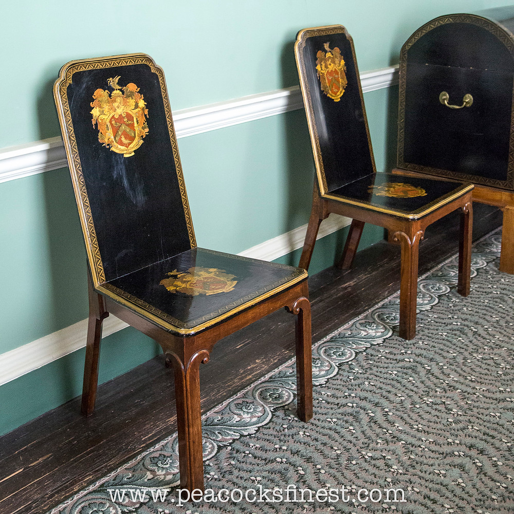 Lacquered hall chairs at Osterley Park
