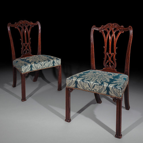 Fine Pair of George III Chippendale Mahogany Chairs