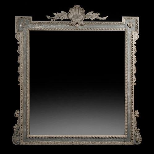Antique Painted Palladian Overmantel Mirror