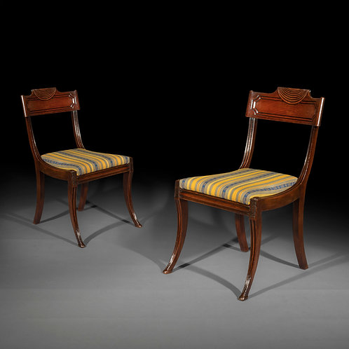 Four Regency Klismos Chairs, in the manner of Marsh and Tatham