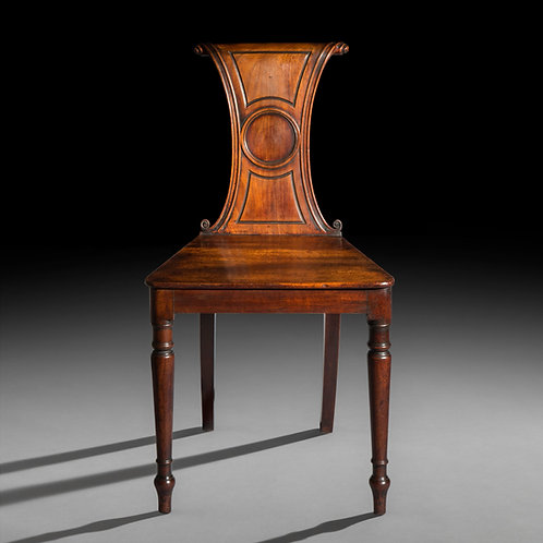 Antique Regency Hall Chair in Mahogany