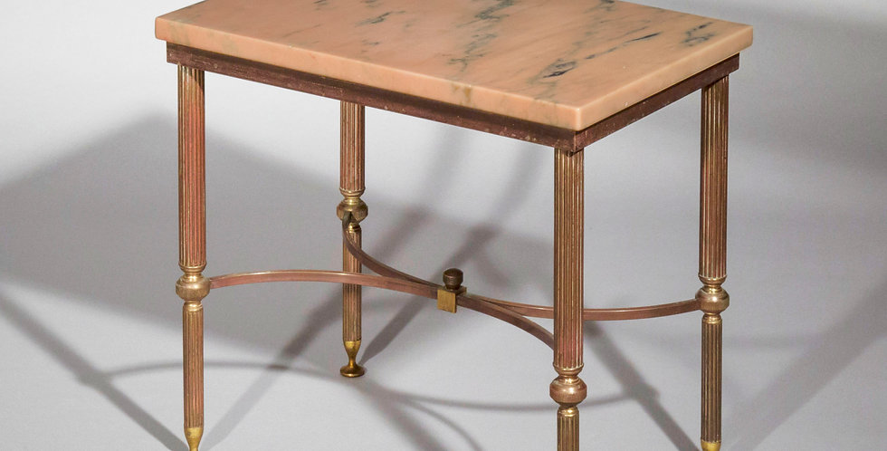 1960's Marble Top Cocktail Table of Maison Jansen Style