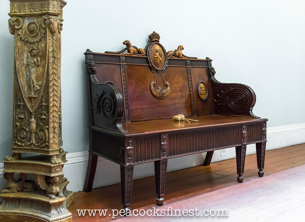 hall bench at Kenwood House