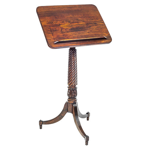Fine Regency Rosewood Adjustable Tripod Table